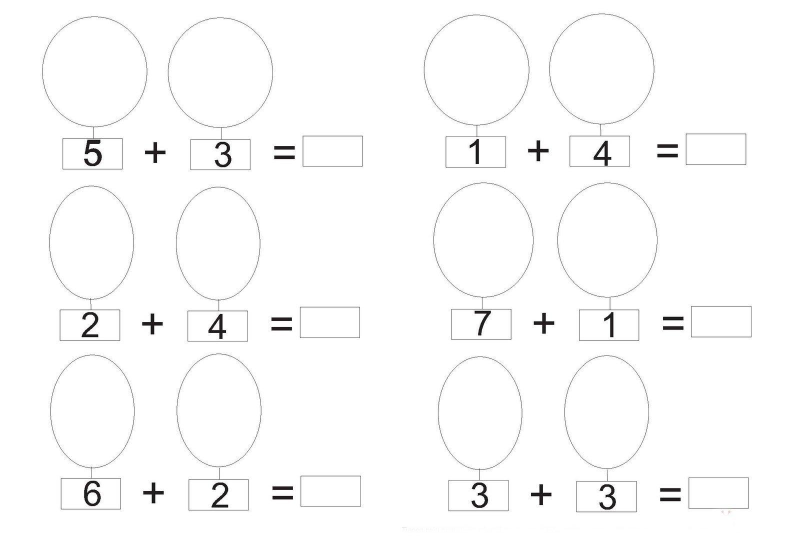 fichas matematicas infantil: