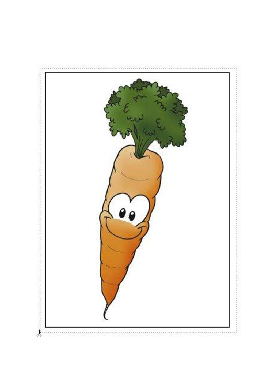 Frutas Y Verduras En Caricatura