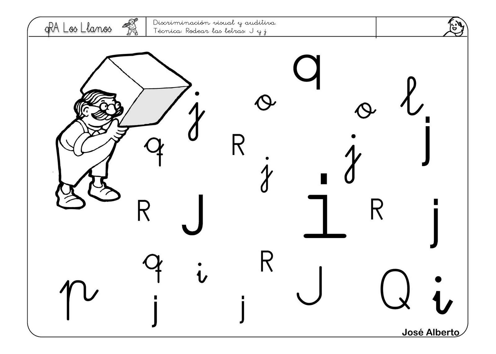 Recursos para el aula: Lectoescritura con la letra J