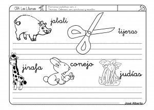 Lectoescritura Letra J Fichas Educación Infantil