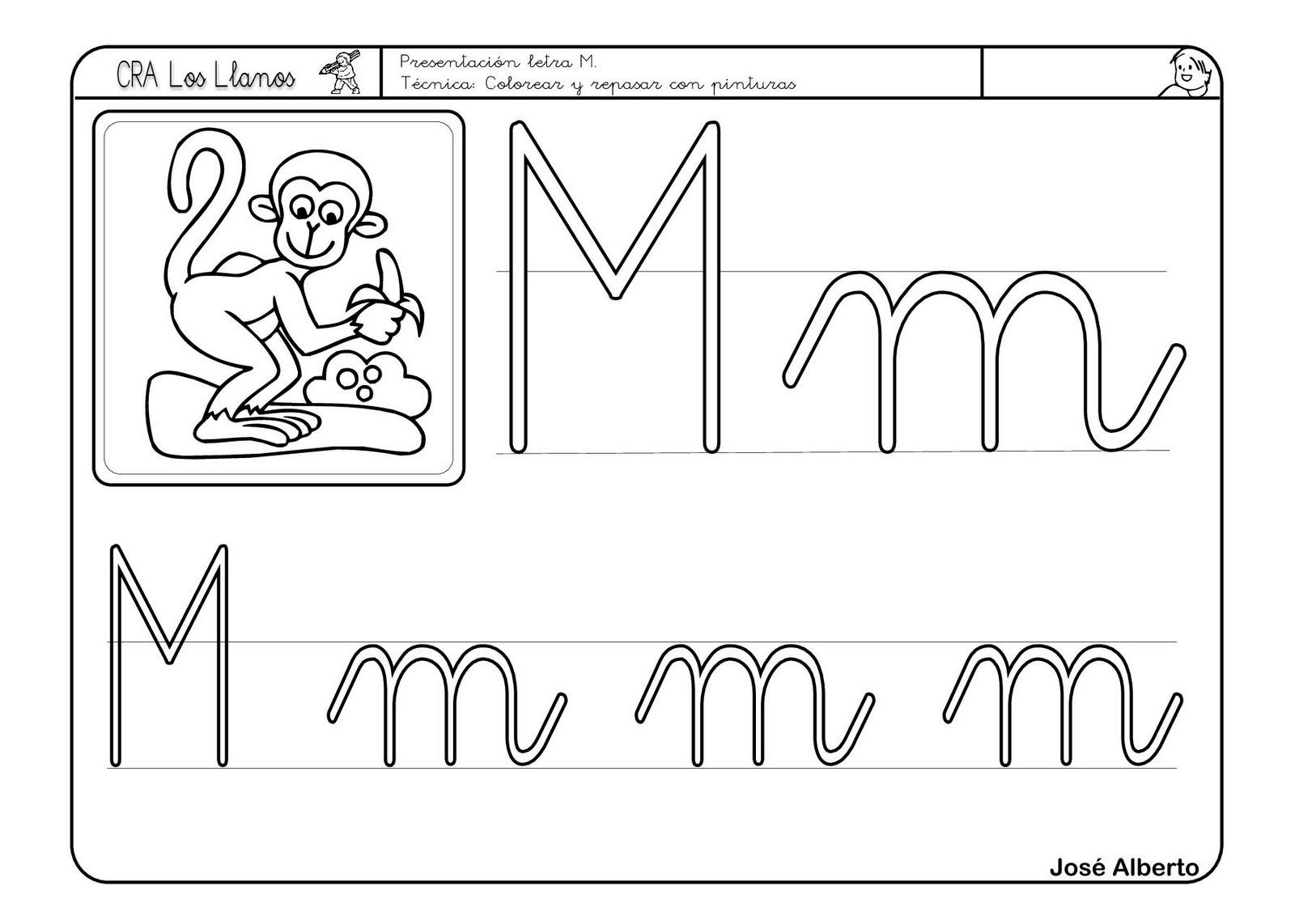 Moderno Letra M Para Colorear Bandera - Dibujos Para Colorear En ...