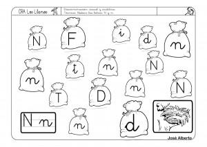 Lectoescritura Con La N Fichas Para Trabajar La Escritura
