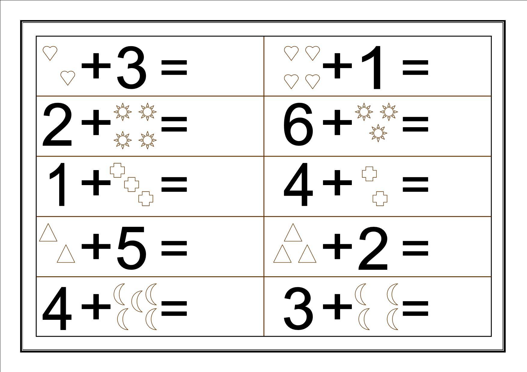 Resultado de imagen para sumas para niños