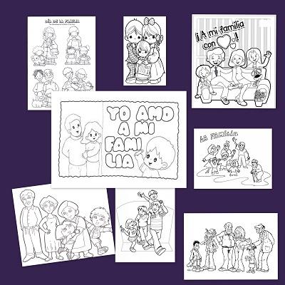 Dibujos Para Colorear En El Día De La Familia