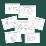 Fichas de infantil: Conceptos opuestos dentro y fuera
