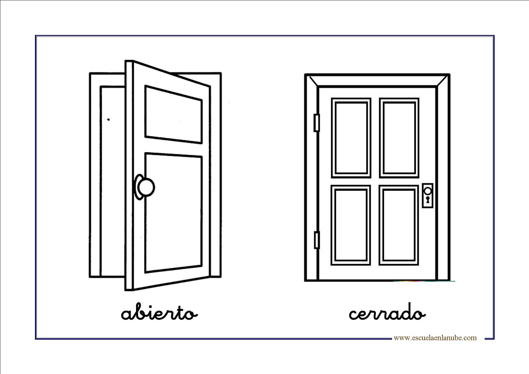 JUEGOS SENCILLOS EDUCACION ESPECIAL: conceptos basicos ABIERTO/CERRADO
