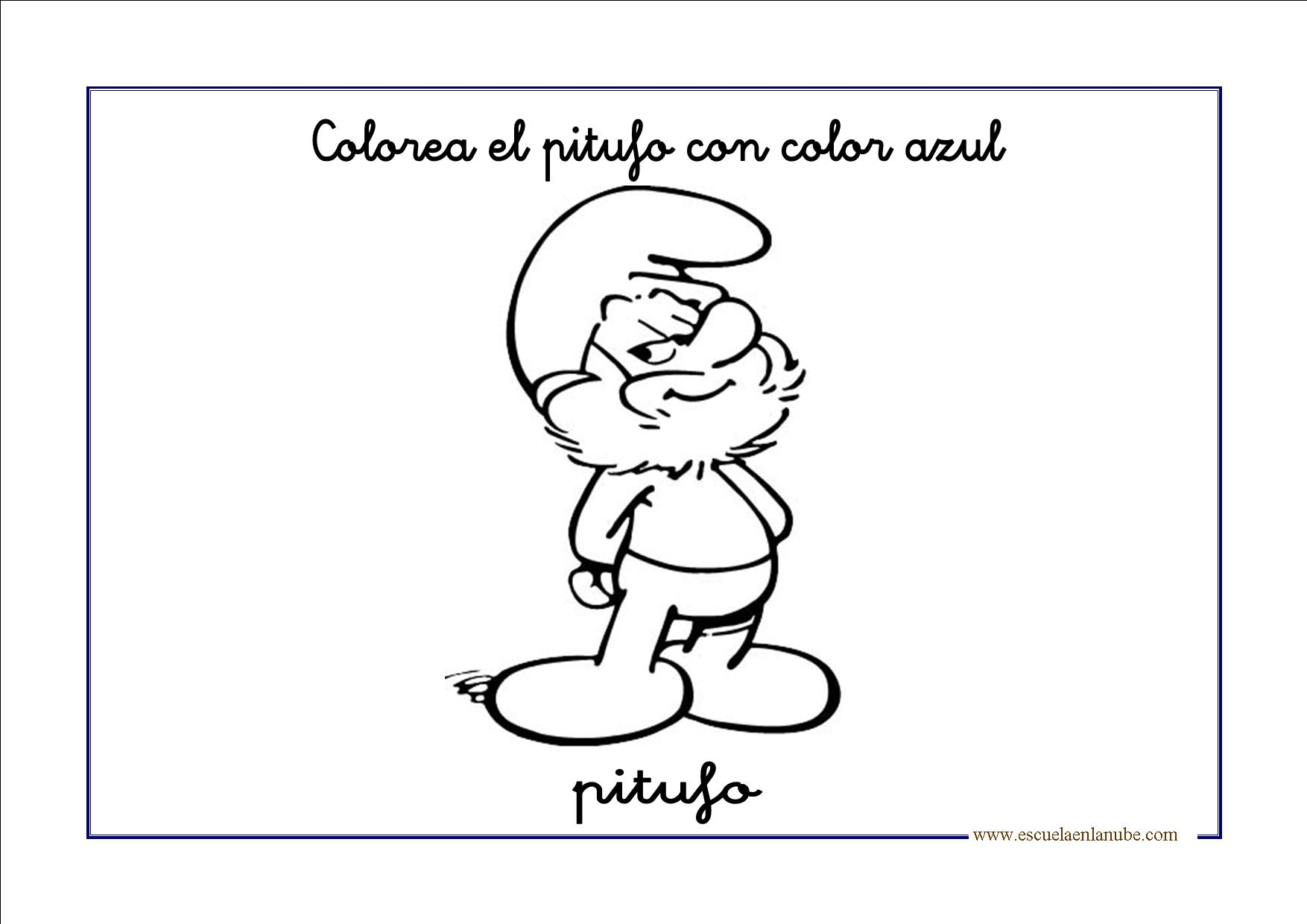 Dibujos para colorear en azul