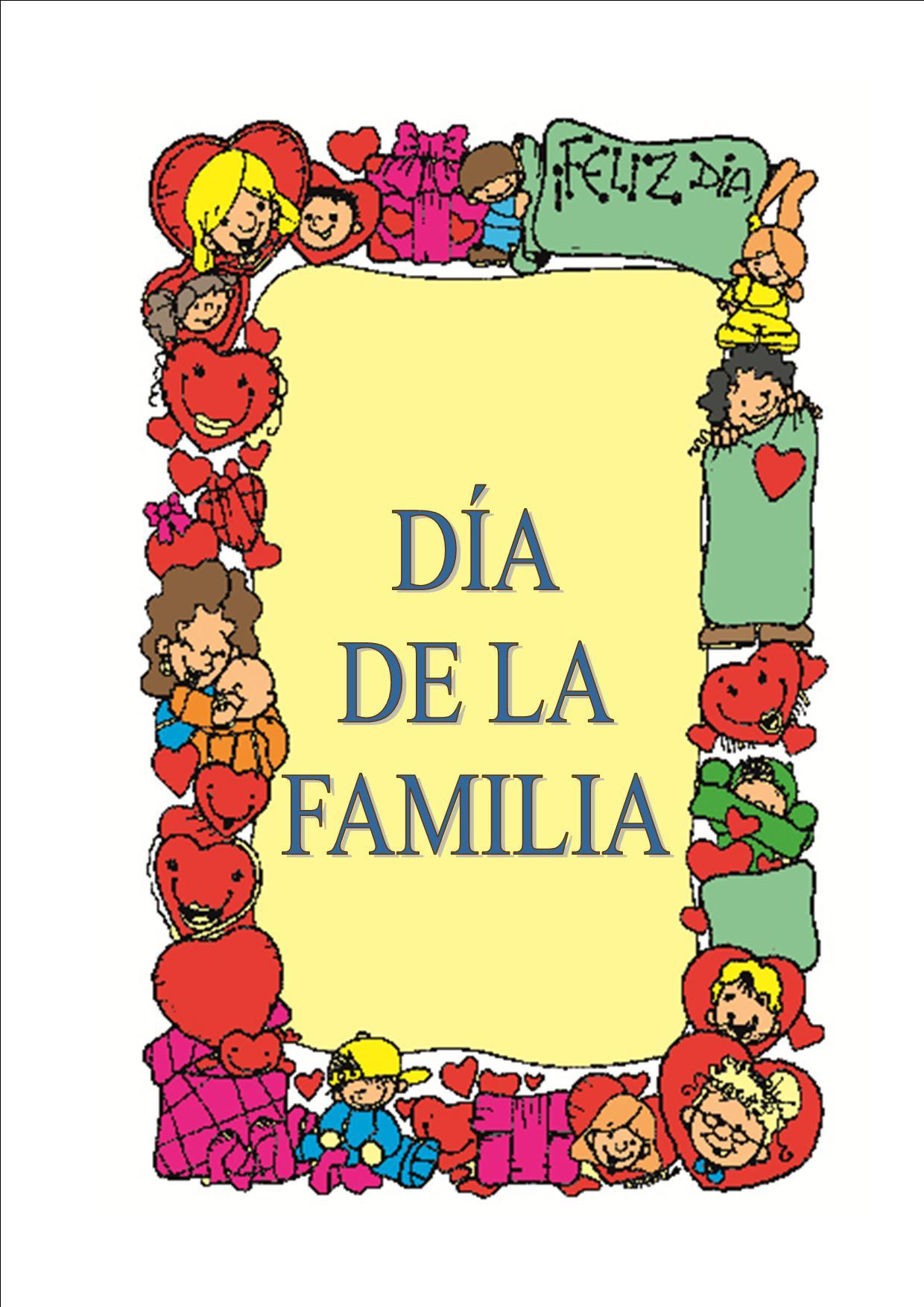 Carteles día de la familia