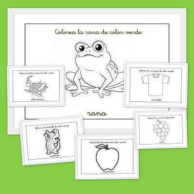 Dibujos para colorear: Color verde