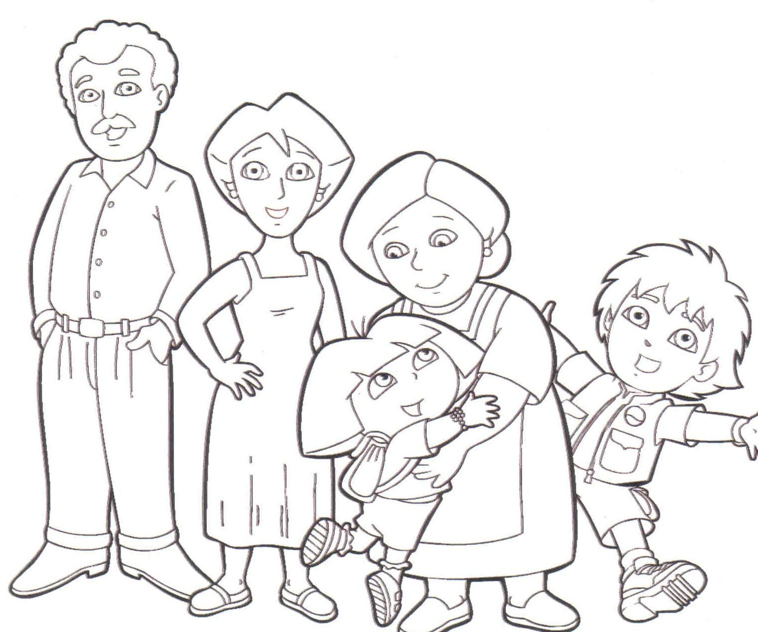familia extensa Colouring Pages