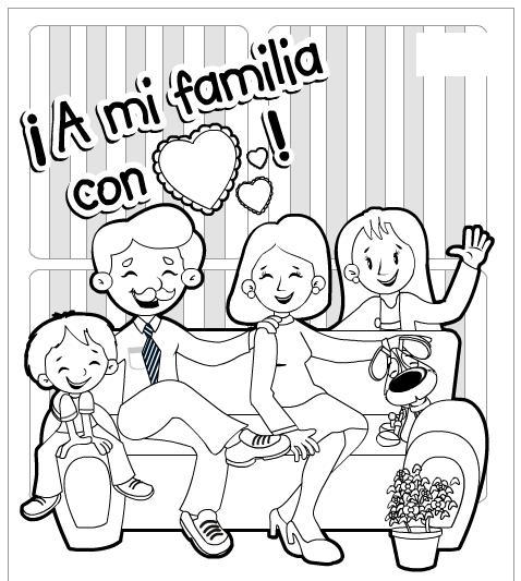 Dibujos para colorear y trabajar el día del abrazo en familia 2014 ...