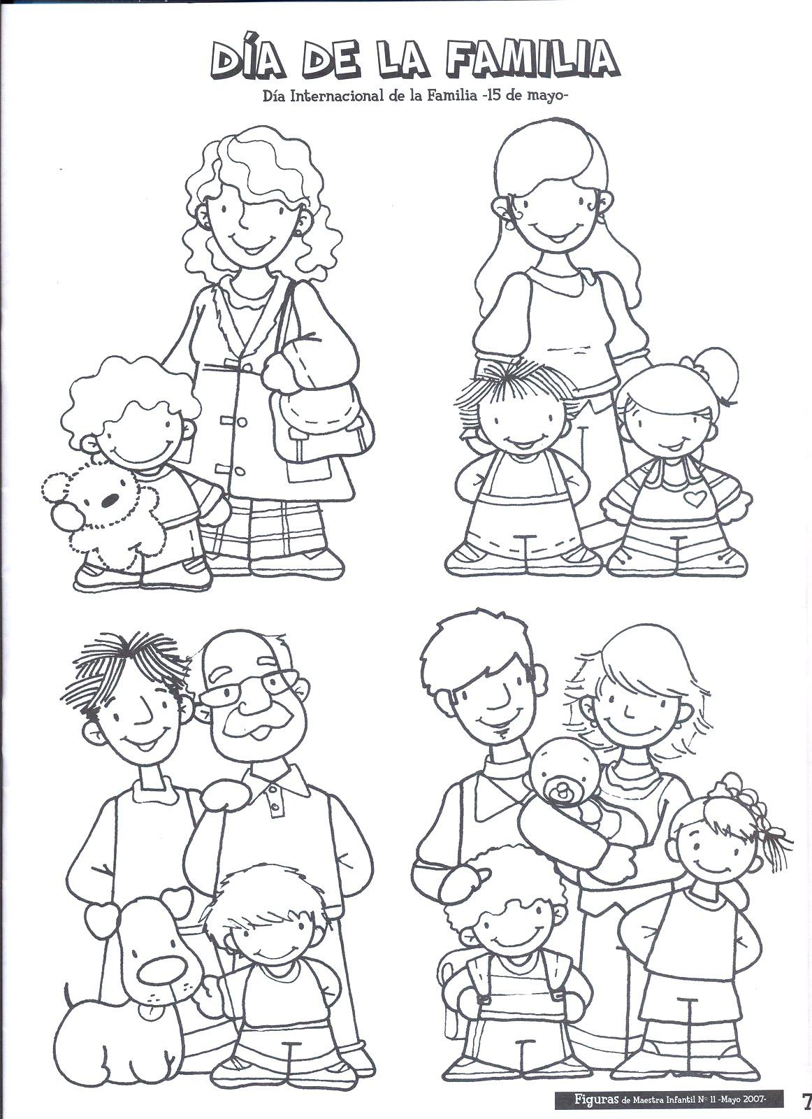 Dibujos para colorear en el d a de la familia for Concepto de la familia para ninos