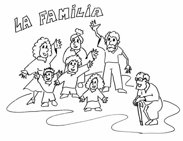 Dibujos Para Colorear En El Día De La Familia Escuela En La Nube