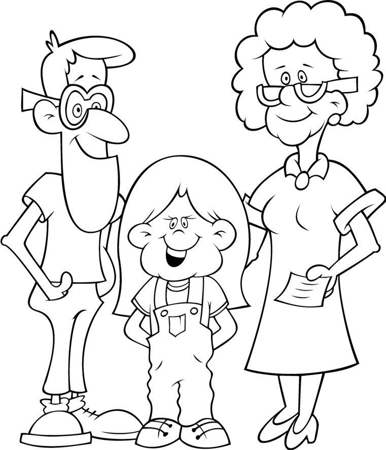 Dibujos para colorear en el da de la familia