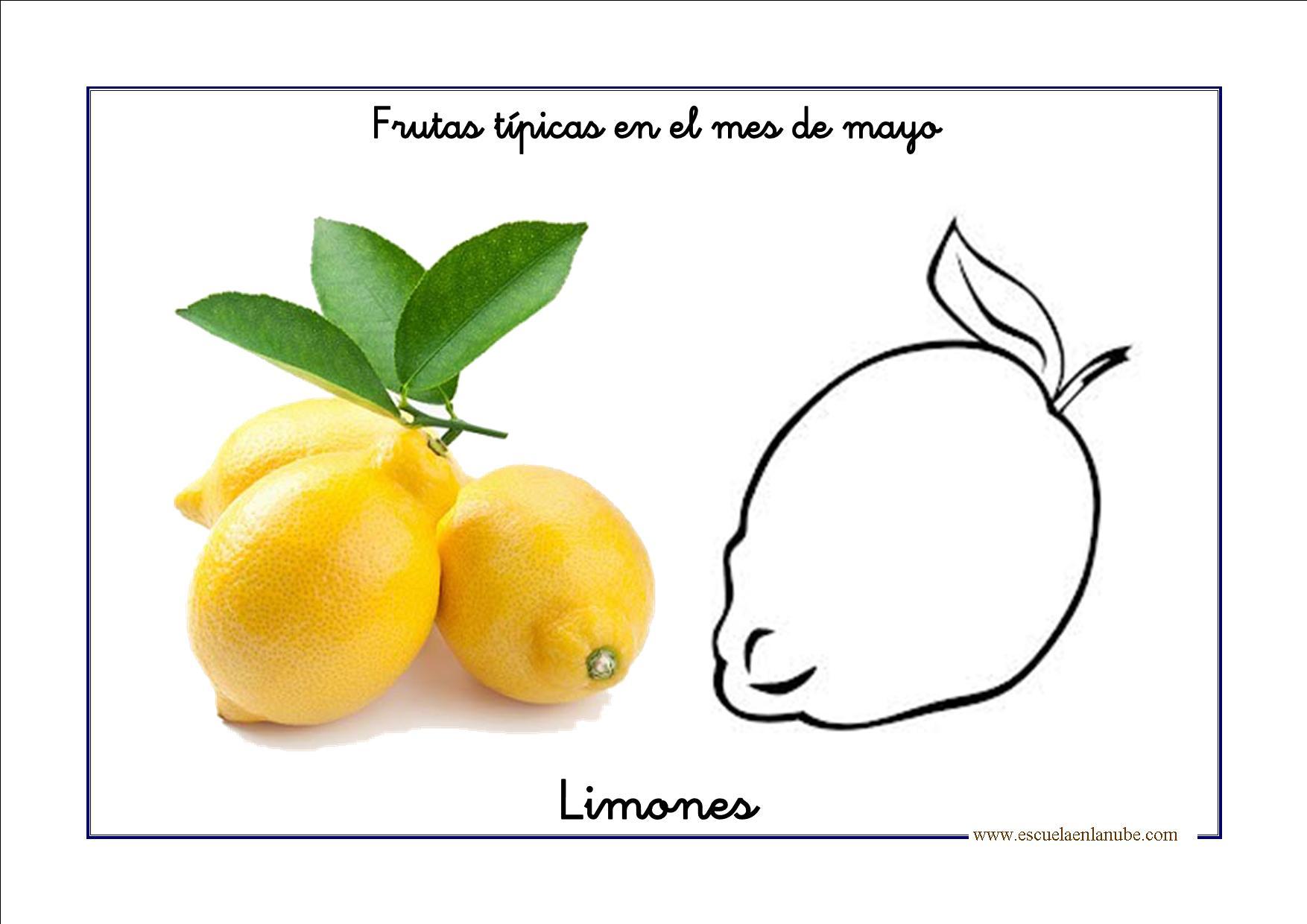 Fichas de infantil: Bits de frutas de Mayo