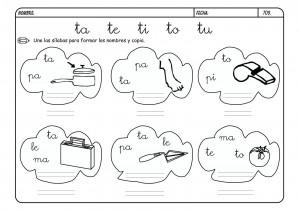 Lectoescritura Letra T Fichas Escritura Infantil
