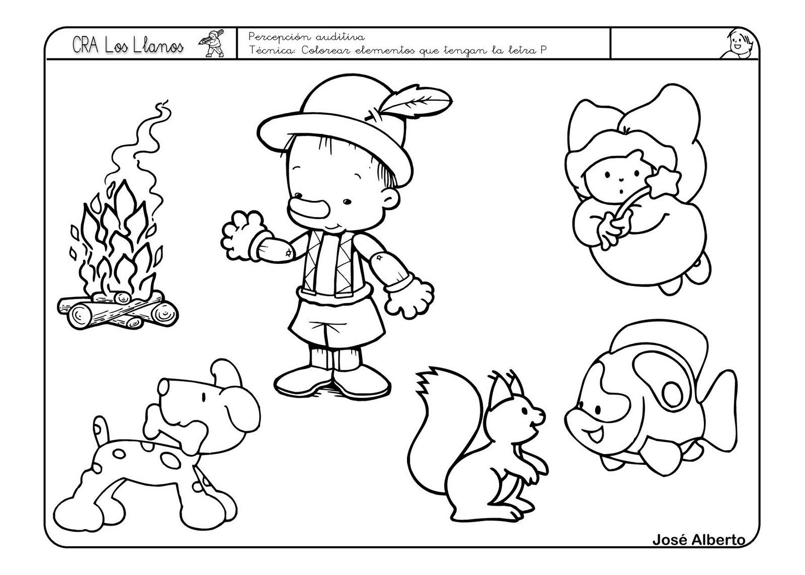 Dibujos Para Colorear Empiezan Letra P