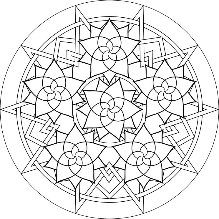 Free Coloring Pages Of Mandala De Paste