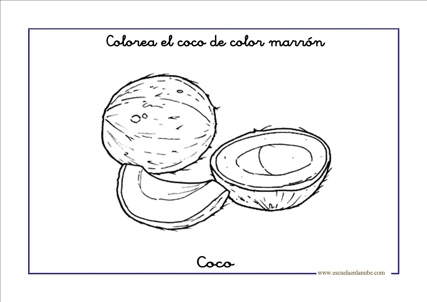 Pagina Para Colorear De Preescolar En Color Para Con: Marron01