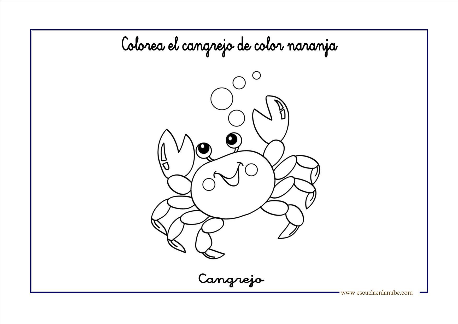 Dibujos Animados Texto Naranja: Fichas Infantil: Trabajar El Color Naranja