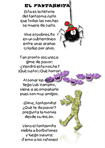 Spanish Halloween Poems for Kids