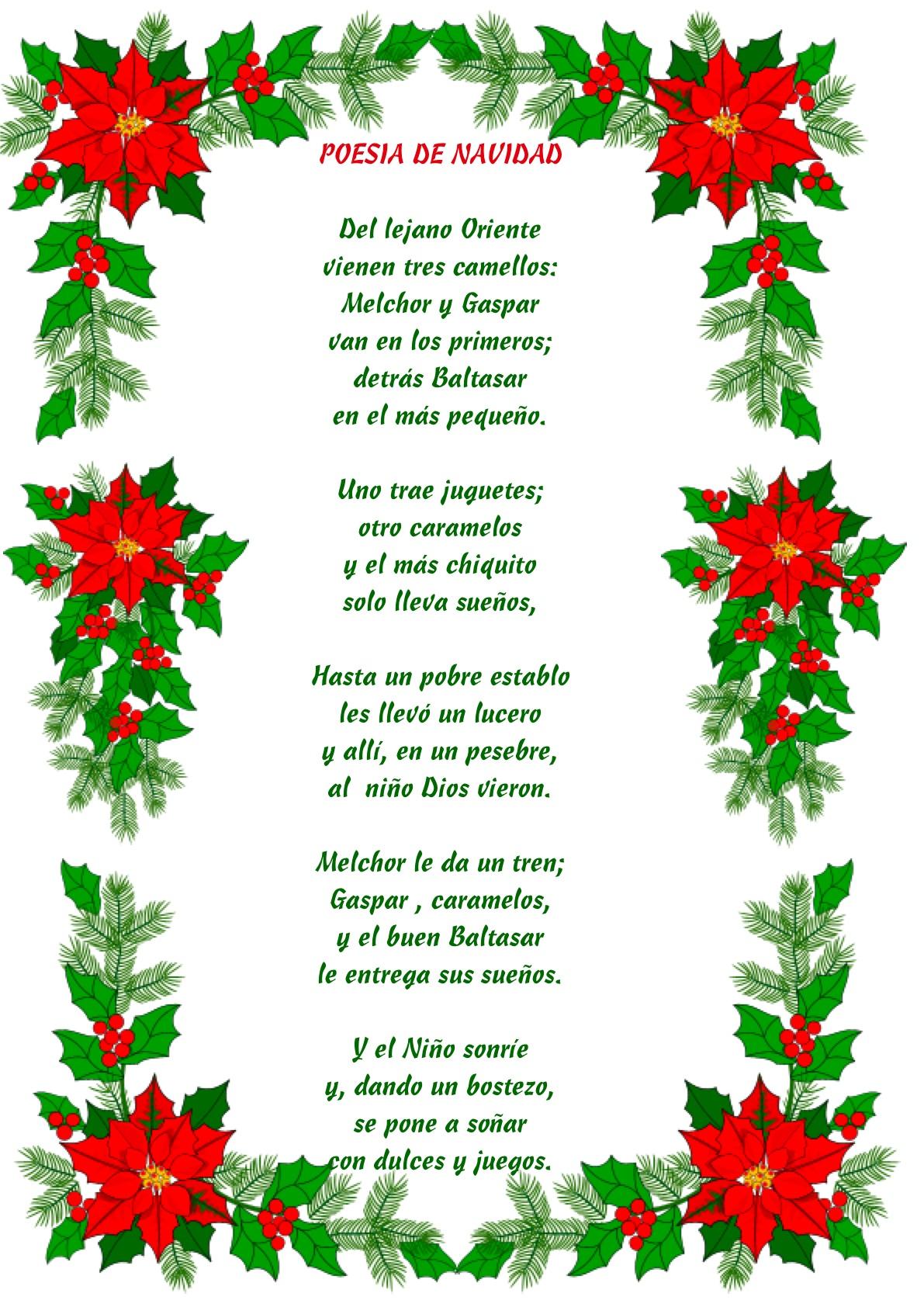 Poemas De Navidad Para Ninos Cristianos