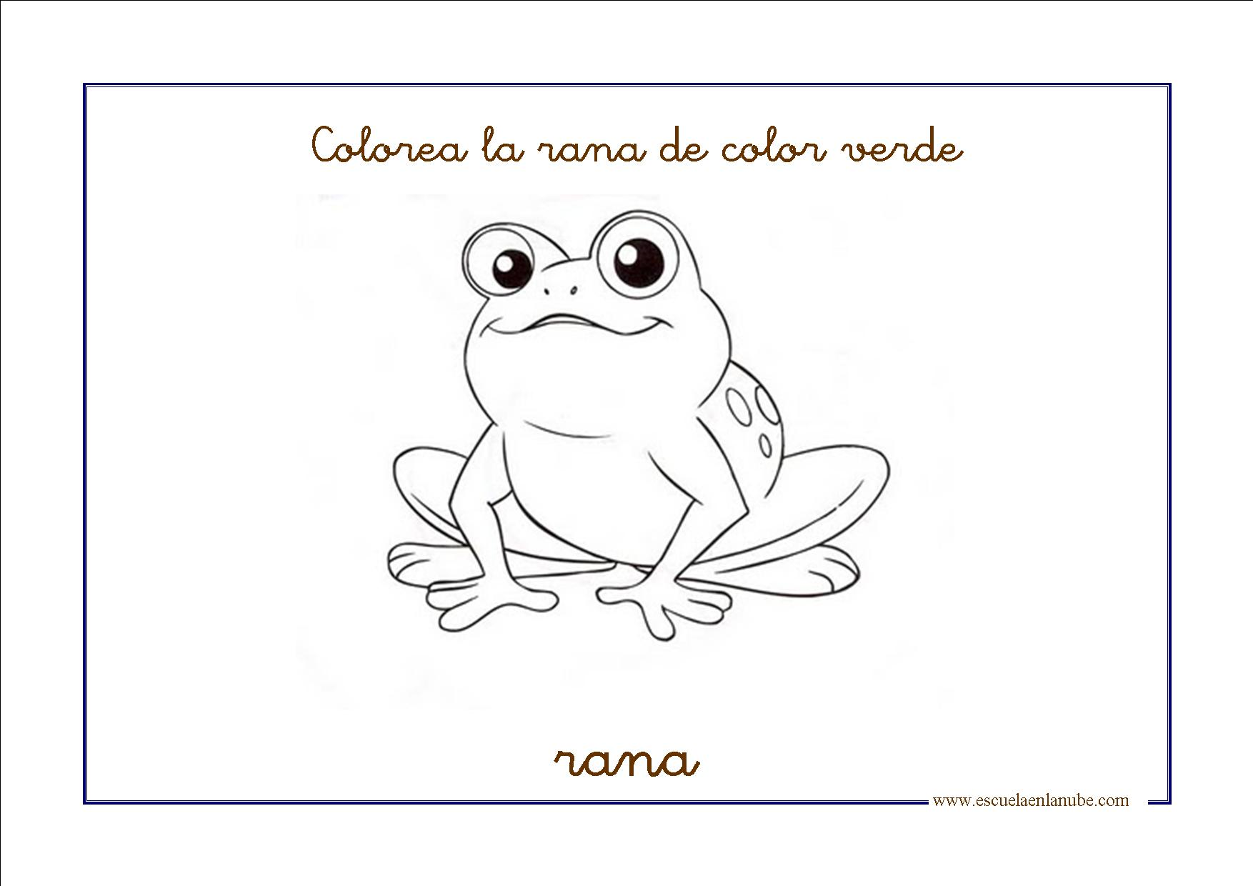 Dibujos para colorear color verde for Los colores para pintar