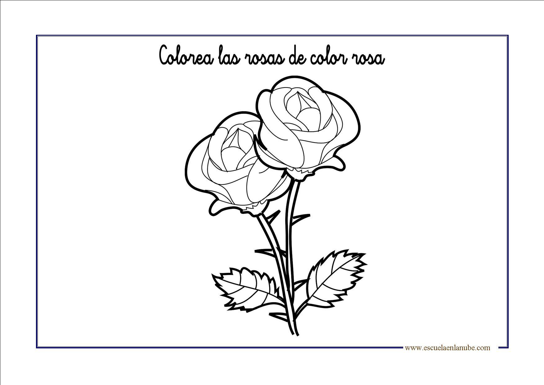 Fichas De Infantil Color Rosa Escuela En La Nube