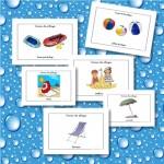 Fichas de vocabulario básico en verano