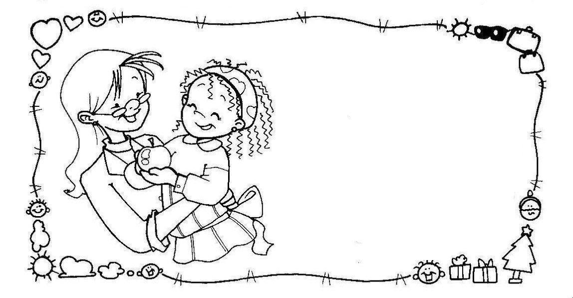 Libreta Para Niños Con 25 Dibujos Para Colorear: Bordes_escolares12