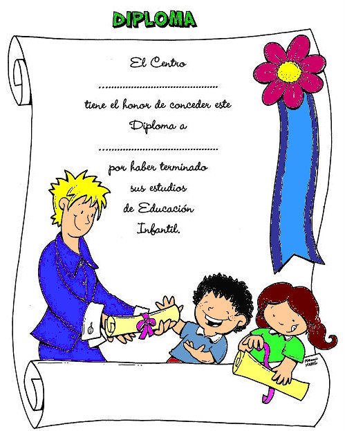 Diplomas para imprimir de Preescolar - Imagui