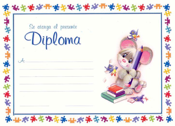 Diplomas infantiles para graduación e imprimir - Imagui