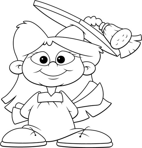 Dibujos para niños de graduación - Imagui