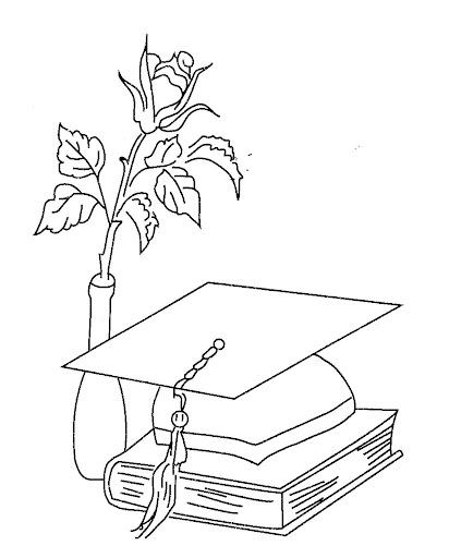 Dibujos para colorear de la graduación -