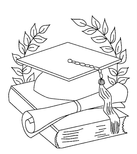 Dibujos Para Colorear De La Graduación Escuela En La Nube