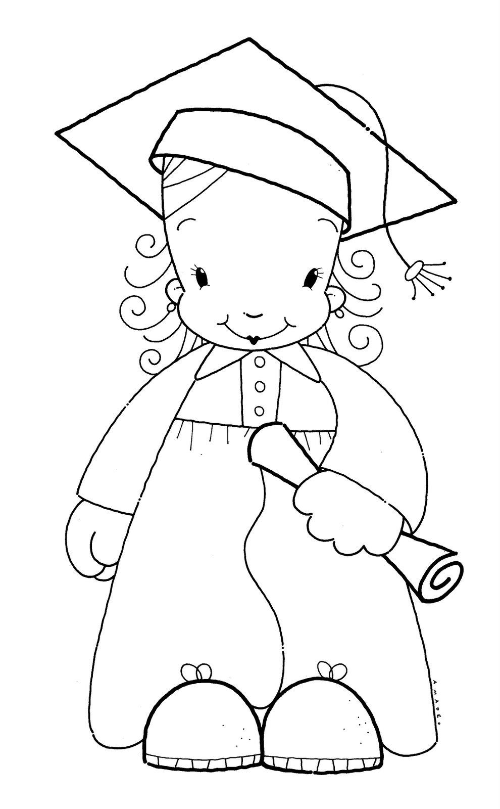 Dibujos Para Colorear De La Graduación