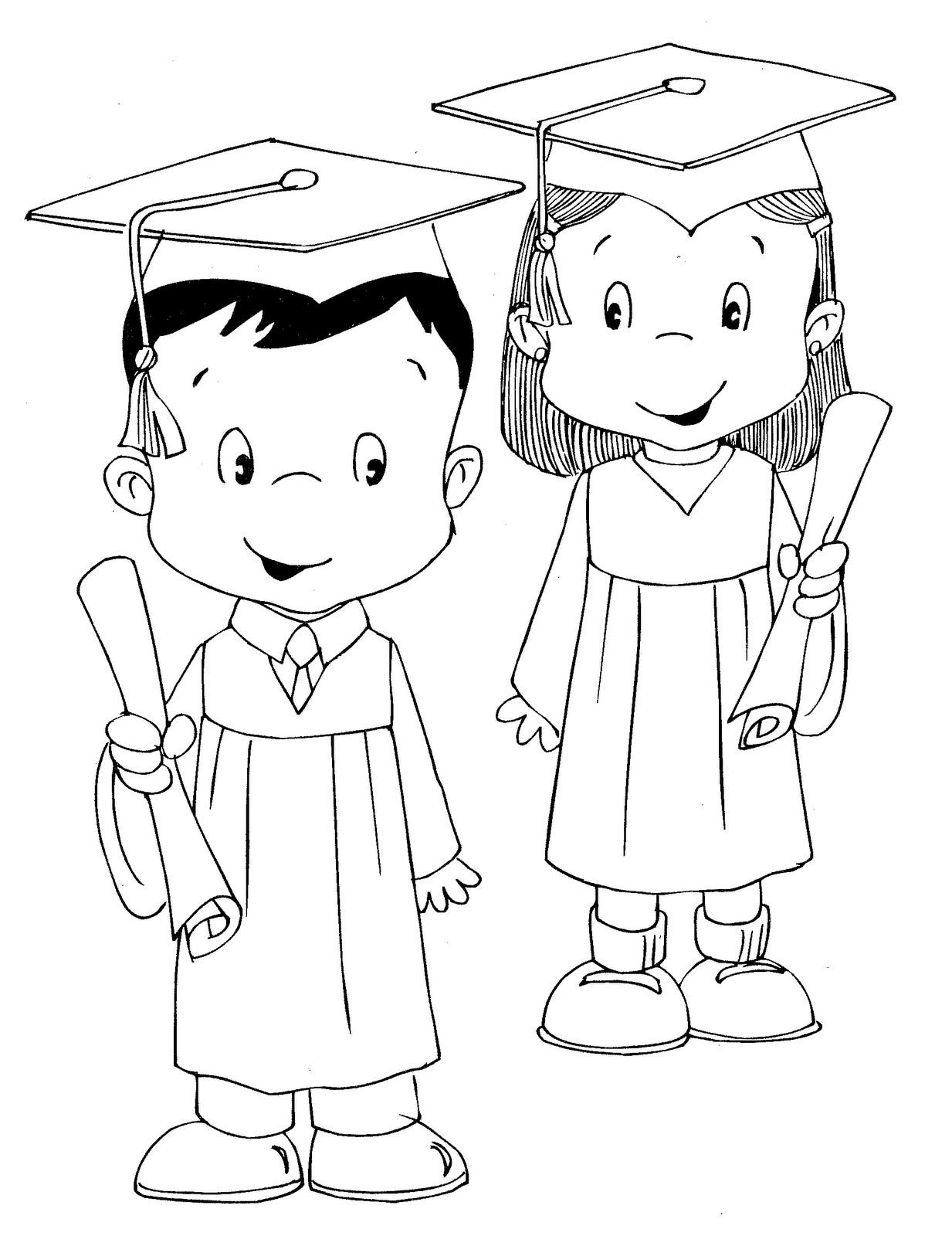 Dibujos para colorear de la graduacin