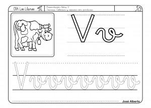 Lectoescritura Letra V Fichas Infantil Y Primaria
