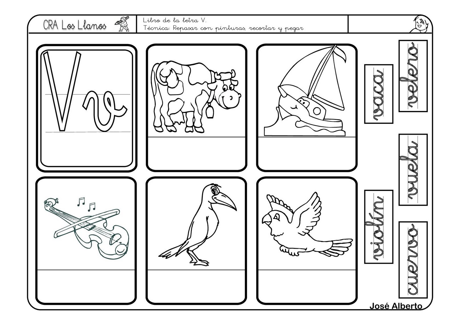 Encantador Letra V Para Colorear Para Imprimir Elaboración - Dibujos ...