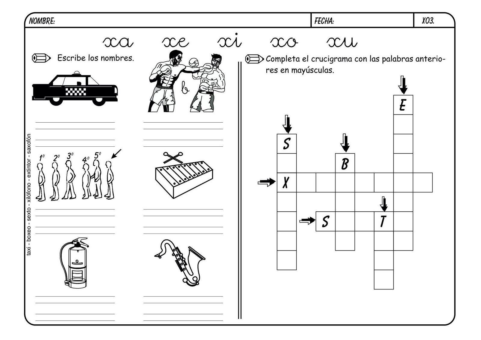 Combinaciones Entre Consonantes T,F,J,Z,N,X,H,V,B - Lessons - Tes Teach
