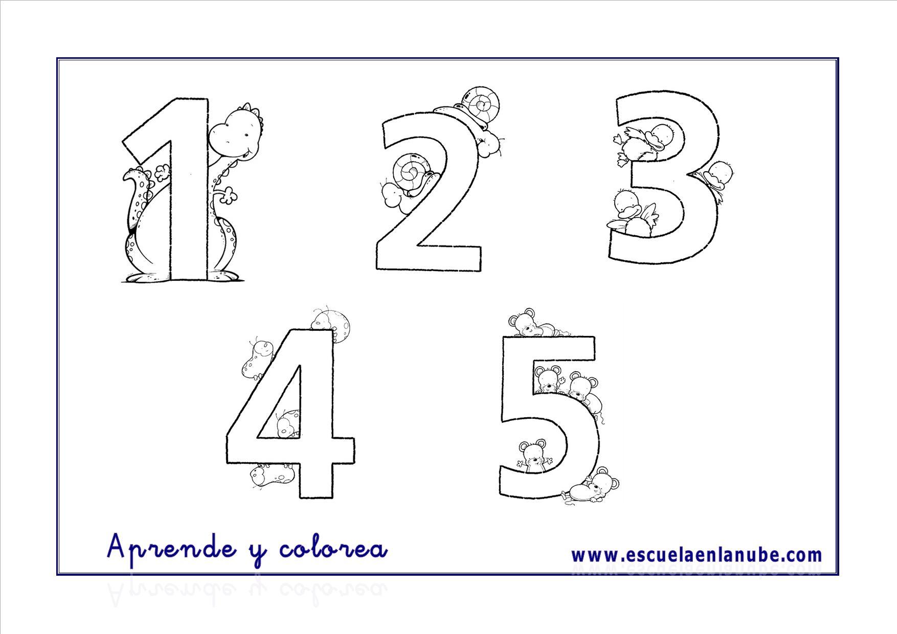 Fichas de matemticas Nmeros del 1 al 5