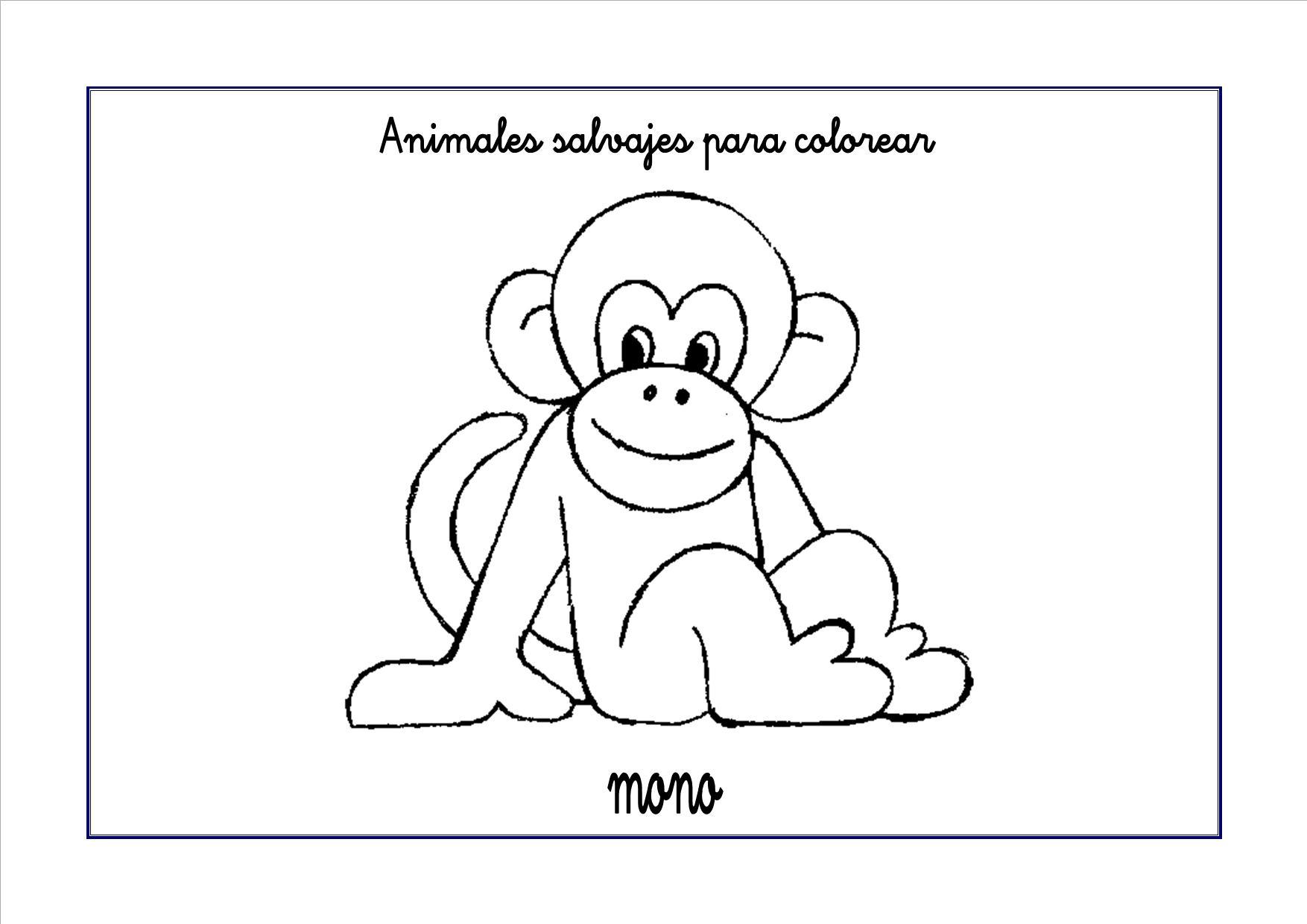 Atractivo Hojas Para Colorear De Mono Viñeta - Dibujos Para Colorear ...