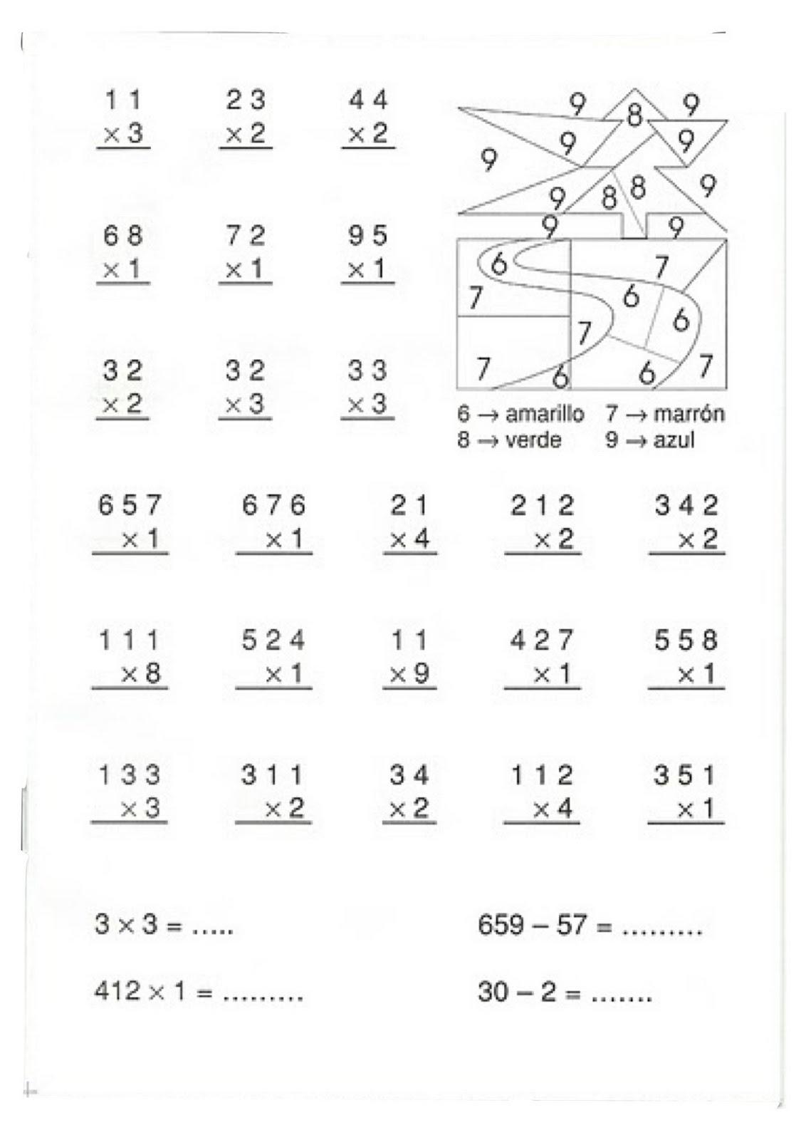 Increíble La Multiplicación 1 Hoja De Trabajo 10 Componente - hojas ...