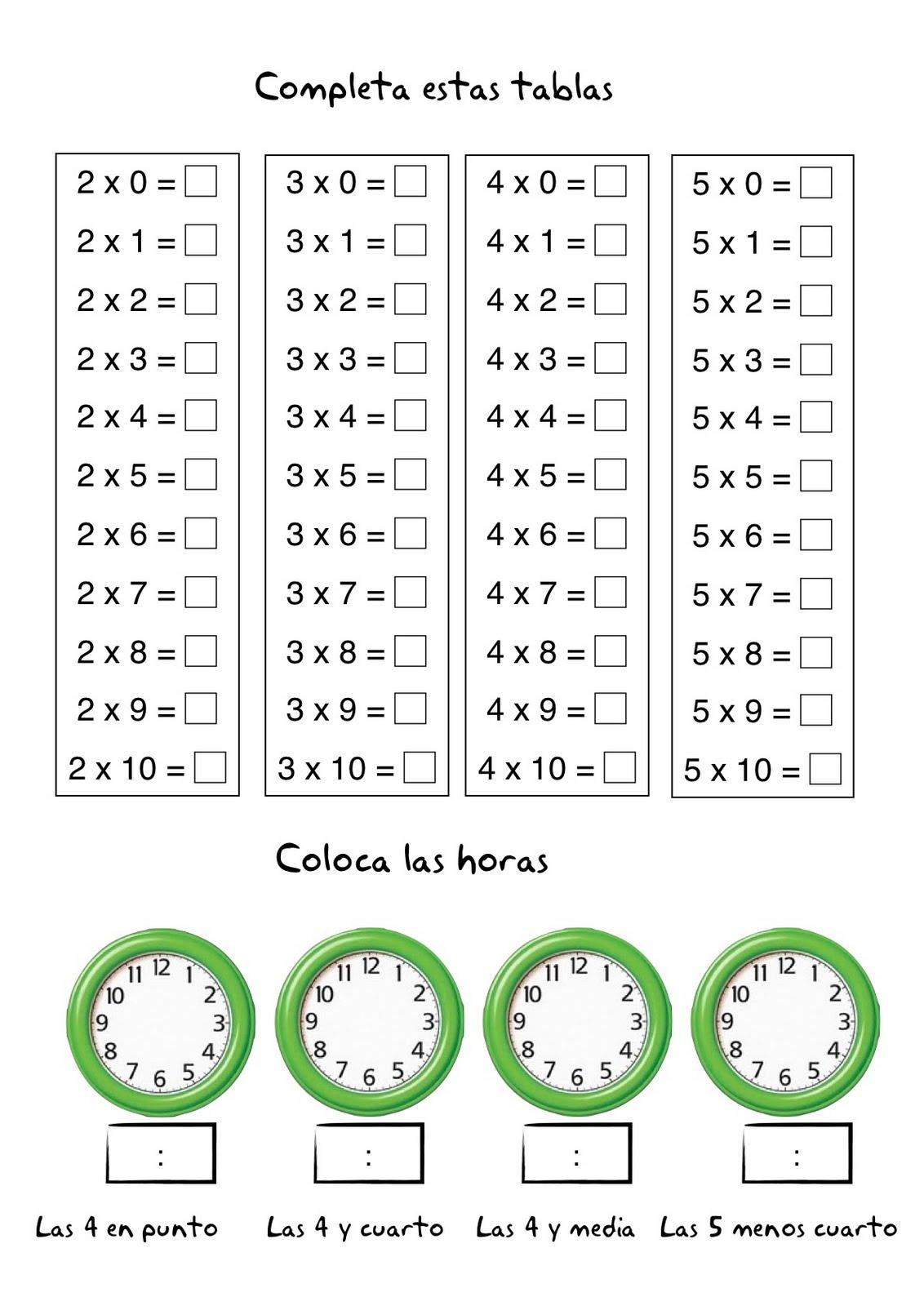 Famoso Hojas De Trabajo De Multiplicación 0 2 Colección de Imágenes ...