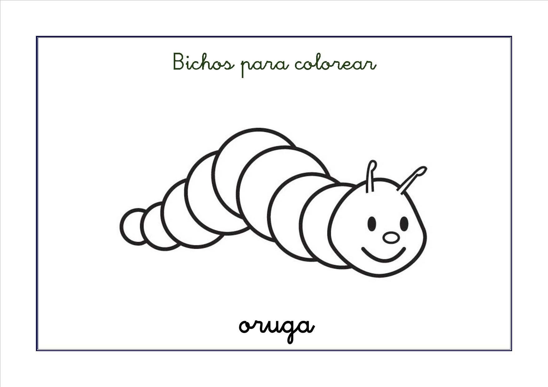 Asombroso Plantilla De Oruga Imprimible Festooning - Colección De ...