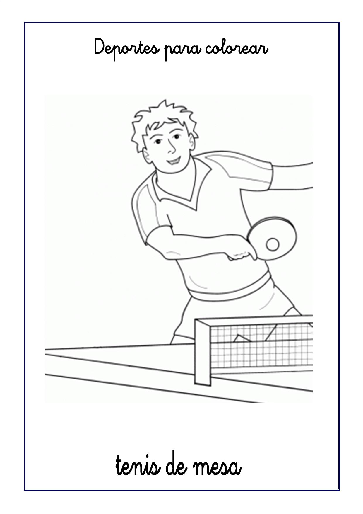 Dorable Páginas Para Colorear De Tenis Patrón - Dibujos Para ...