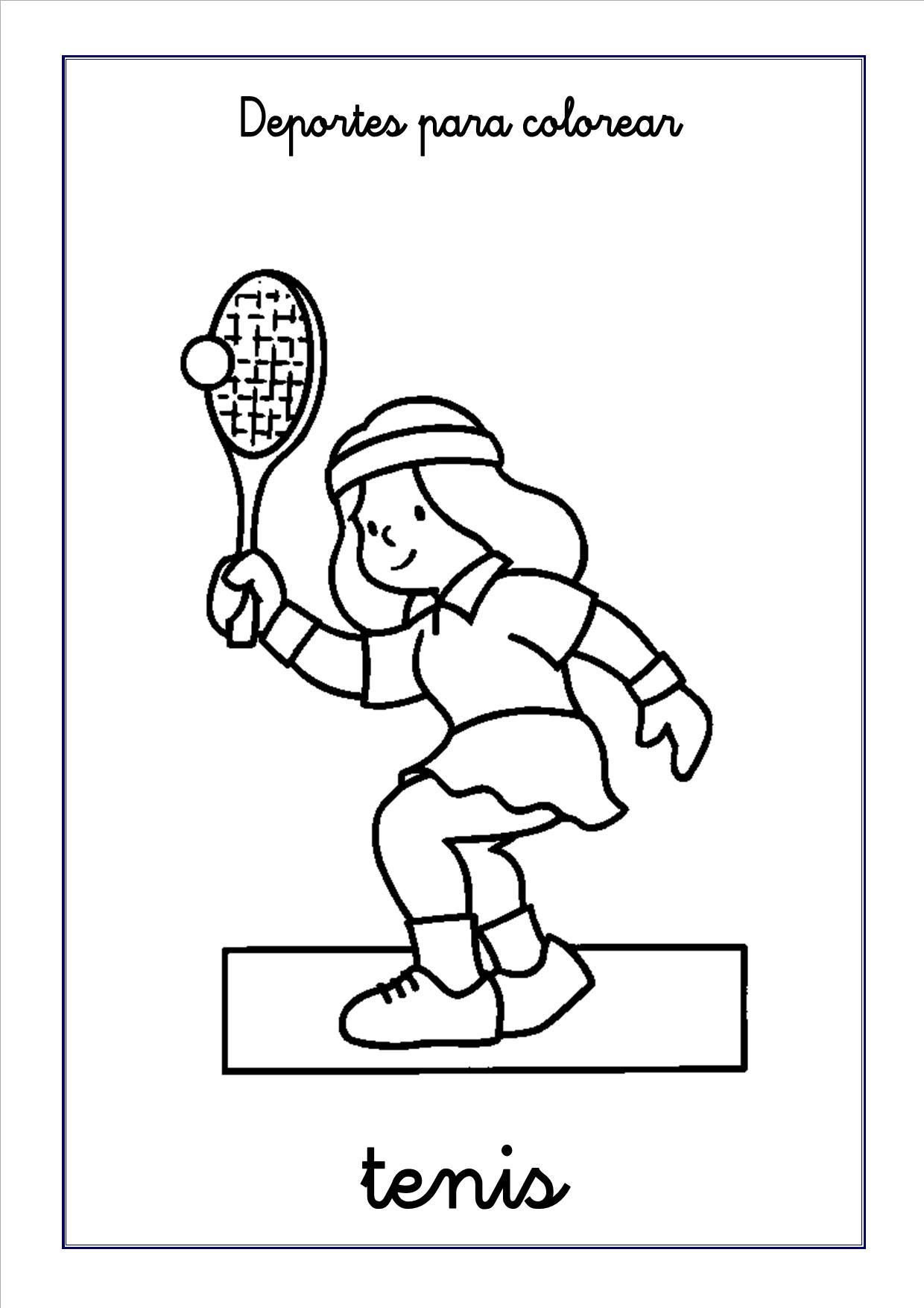 Dibujos de deportes para colorear