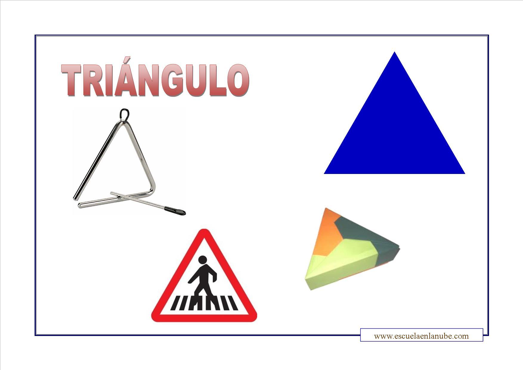 Objetos que tengan forma de triángulo para colorear - Imagui