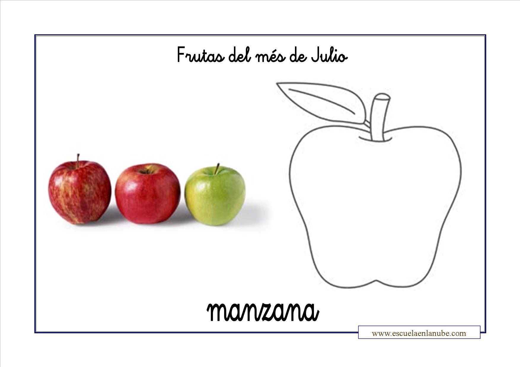 Las Frutas Del Verano Para Colorear
