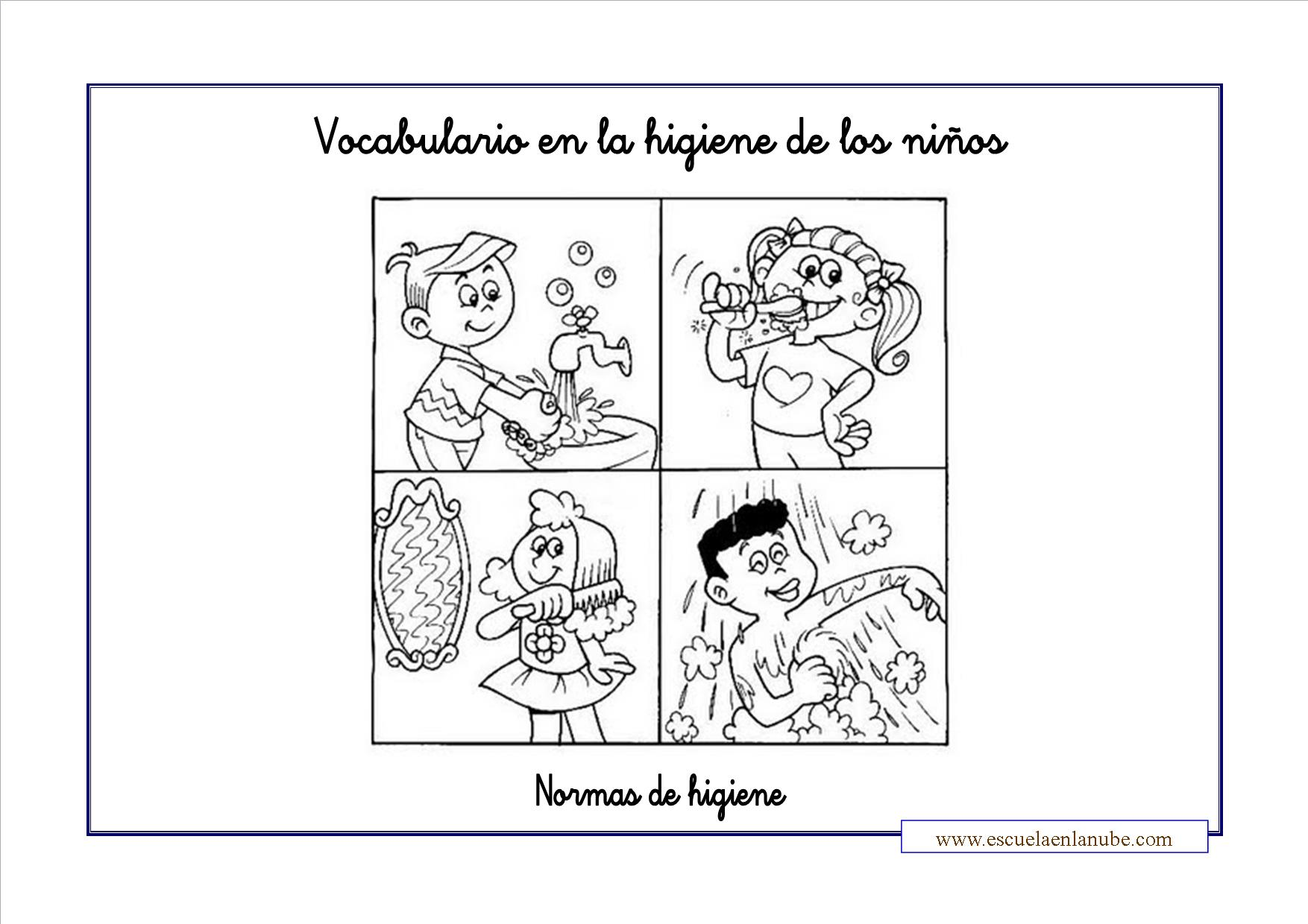 aquachilds: Fichas Higiene y Salud